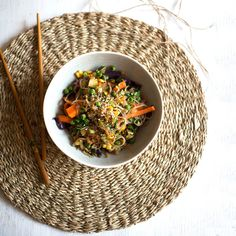 A healthy and hearty plant based and vegan friendly meal in a bowl that can be enjoyed for lunch or dinner, made with vegetables and low cal glass noodles. Fried Vegetables, Veggies, Lunches And Dinners, Meals, Noodle Bowls, Vegan Friendly, Cooking Time, Vegan Vegetarian, Noodles