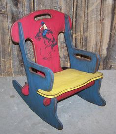 Child's rocking chair Puzzle rocker chair by WorkHorseFurniture