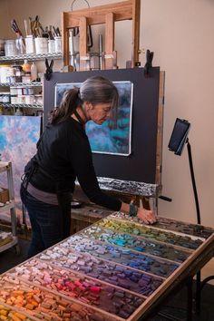 Making Time to Paint studio space Home Art Studios, Studios D'art, Art Studio At Home, Art Studio Design, Design Studios, Art Pastel, Pastel Artwork, Pastel Paintings, Horse Paintings