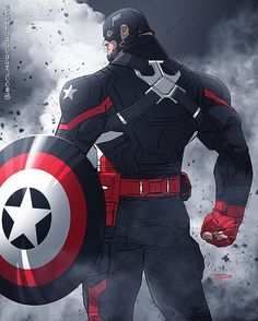 There's only one soldier who can rock the black suit, and that's #USAgent! Despite #CaptainAmerica's memory altering exodus into #Hydra, the fanart that it has sparked has been amazing! Captain Hydra is pretty cool, but this color variant salutes the original Super Patriot villain turned hero instead #Happy4th!