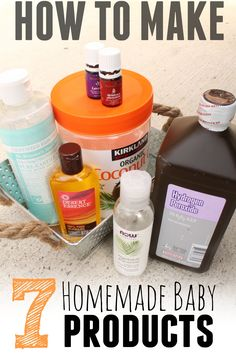 Making Homemade Baby Products doesn't have to be hard - here are 7 easy recipes for homemade baby products.