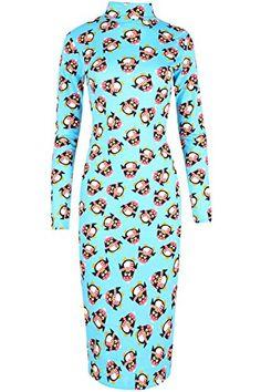 Womens Midi Dress Ladies Xmas Snowman Turtle Neck Penguin Bodycon Midi UK 8-22 Plus Size (UK 20/22) Penguin Blue Fashion Star http://www.amazon.co.uk/dp/B017AH72T2/ref=cm_sw_r_pi_dp_CIIBwb0XQTMFX