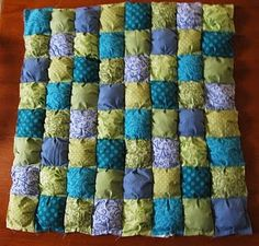 Puff quilt tutorial, part 2.  I think this would make an awesome Christmas present for Xander!