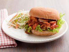 Pulled BBQ Chicken Sandwiches #myplate #protein #grains #veggies