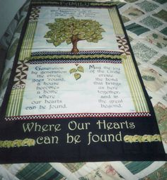 Family Tree quilt by abcbrentwoodquilts on Etsy, $55.00 This quilt has been sold