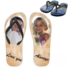 Printed photos of your kids will show you love with you children and their photos on their flip flops will make all the difference.Unique and perfect gift for your kid's birthday or result day. Custom Personalized Photo Kids Flip Flops are first choice when it comes to summer wear. Make your children feel good about what they wear during the hot season.Available in three different sizes.