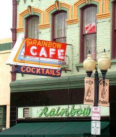 The Rainbow Cafe - Pendleton, Oregon. Oregon Vacation, Oregon Travel, State Of Oregon, Oregon Coast, Rainbow Park, Moving To Idaho, Pendleton Oregon, Oregon Hotels, Cafe Exterior