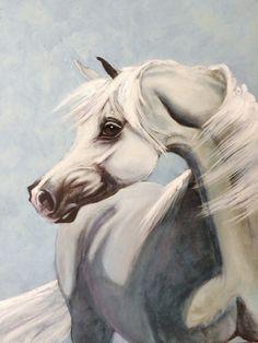 Arabian Horse Giclee Art Print Horse Oil by SweetPeaAndGummyBear