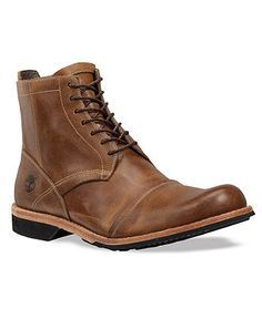 These boots for men combine smooth, modern style with can't-bust-'em attitude. This pair of zippered Timberland men's boots makes a great addition to your dressed-down lineup. | Leather and man made u