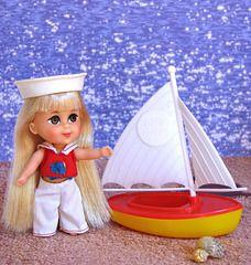 Such good memories - Lola Liddle and her sailboat Vintage Barbie, Vintage Dolls, Sweet Memories, Childhood Memories, Nostalgia, West New York, Dawn Dolls, Mattel Dolls, Creepy Dolls