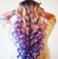 Super hair purple ends haircuts Ideas - Modern Balayage Hair Purple, Ombre Blond, Balayage Ombré, Hair Color Purple, Cool Hair Color, Ombre Hair, Purple Highlights, Purple Ombre, Blonde Hair