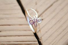 Wire Wrapped  Ring Simple Embrace by KissMeKrafty on Etsy, $10.00