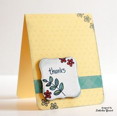 Beautiful clean and simple thank you card