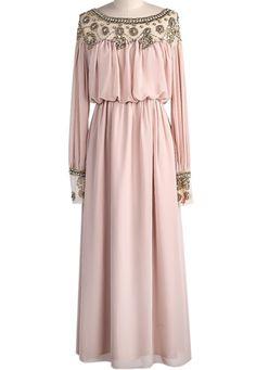 Delicate Beaded Kaftan - Blush via Hijabi Style Fashion Shoppe. Click on the image to see more!