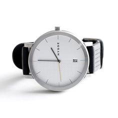 腕時計「2203 BLACK LEATHER/WHITE DIAL(BK)」(ユニセックス)