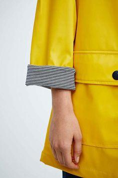Petit Bateau Longline Raincoat in Yellow - Urban Outfitters