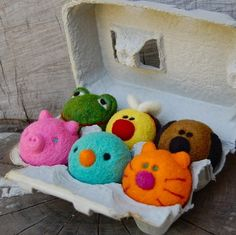 needle felted baby balls from asherjasper