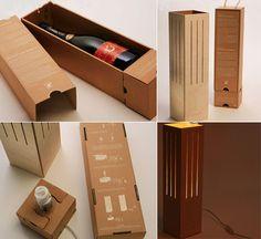 Wine box lamp