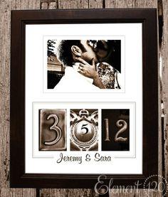Wedding date  Frame... i want one!!