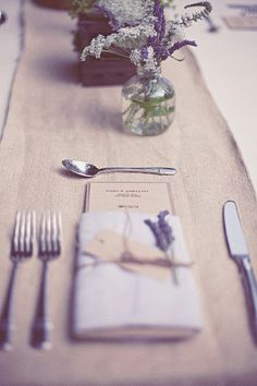 Now that we've finally decided that purple will be a good color for the reception decorations, I'm on the lookout for affordable and unique touches (e.g. fresh lavender, lavender-colored tablecloths, etc)