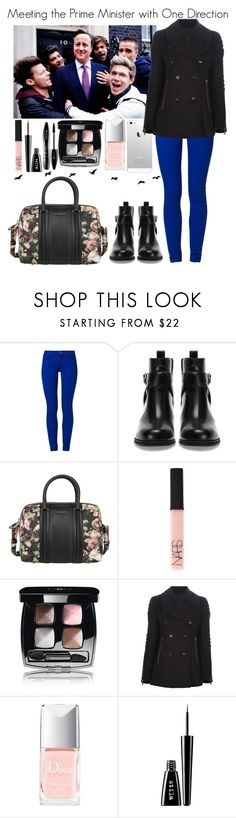 """Meeting the Prime Minister with One Direction"" by elise-22 ❤ liked on Polyvore featuring Payne, ONLY, Pull&Bear, Givenchy, NARS Cosmetics, Chanel, Belstaff, Christian Dior, Stila and Lancôme"