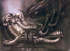 "Giger concept art for Alien, -H. Giger concept art for Alien, - Alien Franchise - The Space Jockey ""Until I say"" by Ryan: Chur, Hr Giger Art, Hr Giger Alien, Alien Vs Predator, Concept Art Alien, Alien Artist, Art Sombre, Alien 1979, Alien Alien"