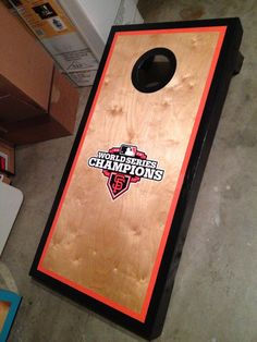 SF Giants boards-Birch overlay with Fathead decal.