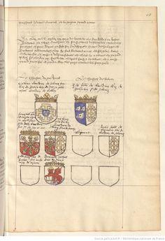 Armorial des Croisés et armoriaux divers. -- 1601-1700 -- manuscrits