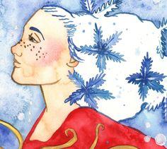 "@fairychamber posted to Instagram: Detail from my snowflake painting / yksityiskohta ""lumihiutale"" maalauksestani #acrylics #acrylicpainting #winterfairy #keiju #talvi #talvikeijut #winter #fairy #fairies #winterqueen #fairyqueen #snow #snowing #snowfall #fairytale #fantasy #fantasyart #watercolorpainting #watercolors #watercolour #inspiring_watercolors #cold #snowflakes #frosty #chilly #watercolour_gallery @watercolor_daily #aquarelle #watercolorart #illustratorsofinstagram #ice Winter Fairy, Fairy Queen, Winter Solstice, Watercolor Paintings, Watercolors, Snowflakes, Fantasy Art, Fairy Tales, Holiday"