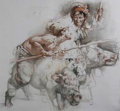 by Nikolai Blokhin...#drawing