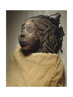 Giclee Print: Mummy of Queen Nedjemet, Wife of Herihor, Face Detail :