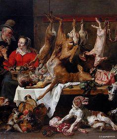 Frans Snyders - La Marchande de gibier 1630