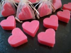 Rose scented Heart shape SOAP Pink in Ivory by MangoMoonNaturals, £1.60