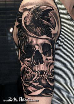 Skull & Roses Tattoo