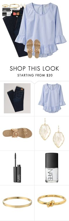"""It's like catching lightning, the chances of finding someone like you"" by lauren-hailey ❤ liked on Polyvore featuring American Eagle Outfitters, Viktor & Rolf, Jack Rogers, Kendra Scott, NARS Cosmetics and Kate Spade"
