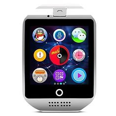 Smart Watch Bluetooth – SODIAL(R) Seesii Q18 1.54″Touch Screen Wireless Smartwatch with 1.3MP Camera NFC/TF/SIM Card Slot for Android Samsung Galaxy/note and IOS(partial Functions) (White silver)   * SODIAL is a registered trademark. ONLY Authorized seller of SODIAL can sell under SODIAL listings.Our products will enhance your experience to unparall