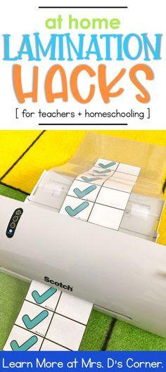 At Home Lamination Hacks for Teachers - Mrs. D's Corner