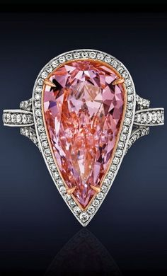 Huge Pink Diamond Solitaire Ring by Jacob & Co