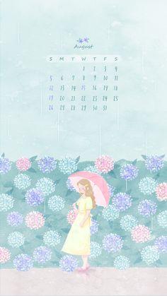 Calendar Wallpaper, Calendar Design, Photo Backgrounds, Cover Photos, Art Sketches, Cute Pictures, Anime Art, Animation, Cartoon