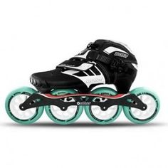 Bont Z Inline Speed Skate Black/White 3 Point Inline Speed Skates, Six Speed, Inline Skating, Bicycle Components, Roller Derby, Cycling Equipment, Black And White, Sports, Life
