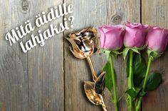 Anna äidille aito ruusu 24 karaatin kultauksella! Aito ruusu on kastettu kultaan kokonaisena, jolloin jokainen kullattu ruusu on ainutlaatuinen. Anna