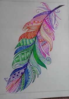 Trendy Tattoo Feather Mandala Hippie Art Informations About Trendy Tattoo Feather Ma Mandala Art, Mandala Hippie, Mandala Feather, Mandala Drawing, Hippie Art, Mandala Tattoo, Mandala Design, Feather Drawing, Feather Painting