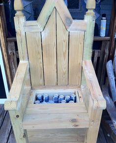 how to build king and queen chair - Google Search