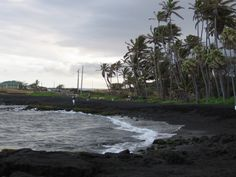Black sand beaches of Hawaii.