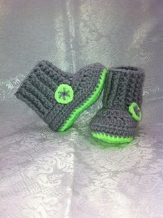 Addicted To Turquoise: Crochet Ribbed Baby Booties