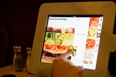 Stacked - San Deigo. A restaurant where you choose exactly what you want, by creating it on a tablet then it is prepared and brought to your table.