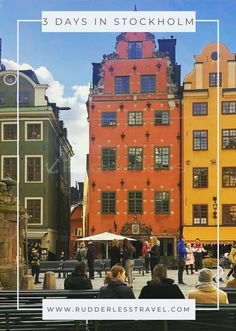 The Best 3 Days In Stockholm Itinerary (Viking Approved) - Rudderless Travel European Travel Tips, Europe Travel Guide, European Vacation, Travel Guides, Backpacking Europe, Europe Packing, Traveling Europe, Packing Lists, Travel Packing