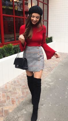 50 Best Outfit for Women In Their - Mode Outfits Winter Fashion Outfits, Fall Winter Outfits, Look Fashion, Teen Fashion, Autumn Fashion, Spring Outfits, Winter Outfits With Skirts, 20s Fashion, Feminine Fashion