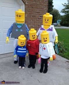 Lego Family DIY Halloween Costume! how did they get these heads?