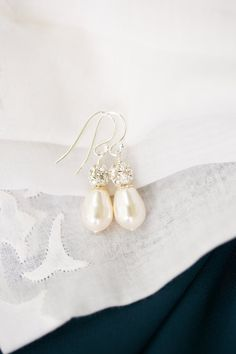 Braut Ohrringe Teardrop Perlen Ohrringe Perlen von SarahWalshBridal